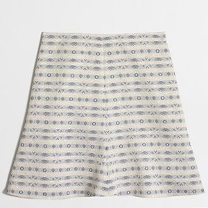 J. CREW Jacquard flare skirt in stripe sz 4
